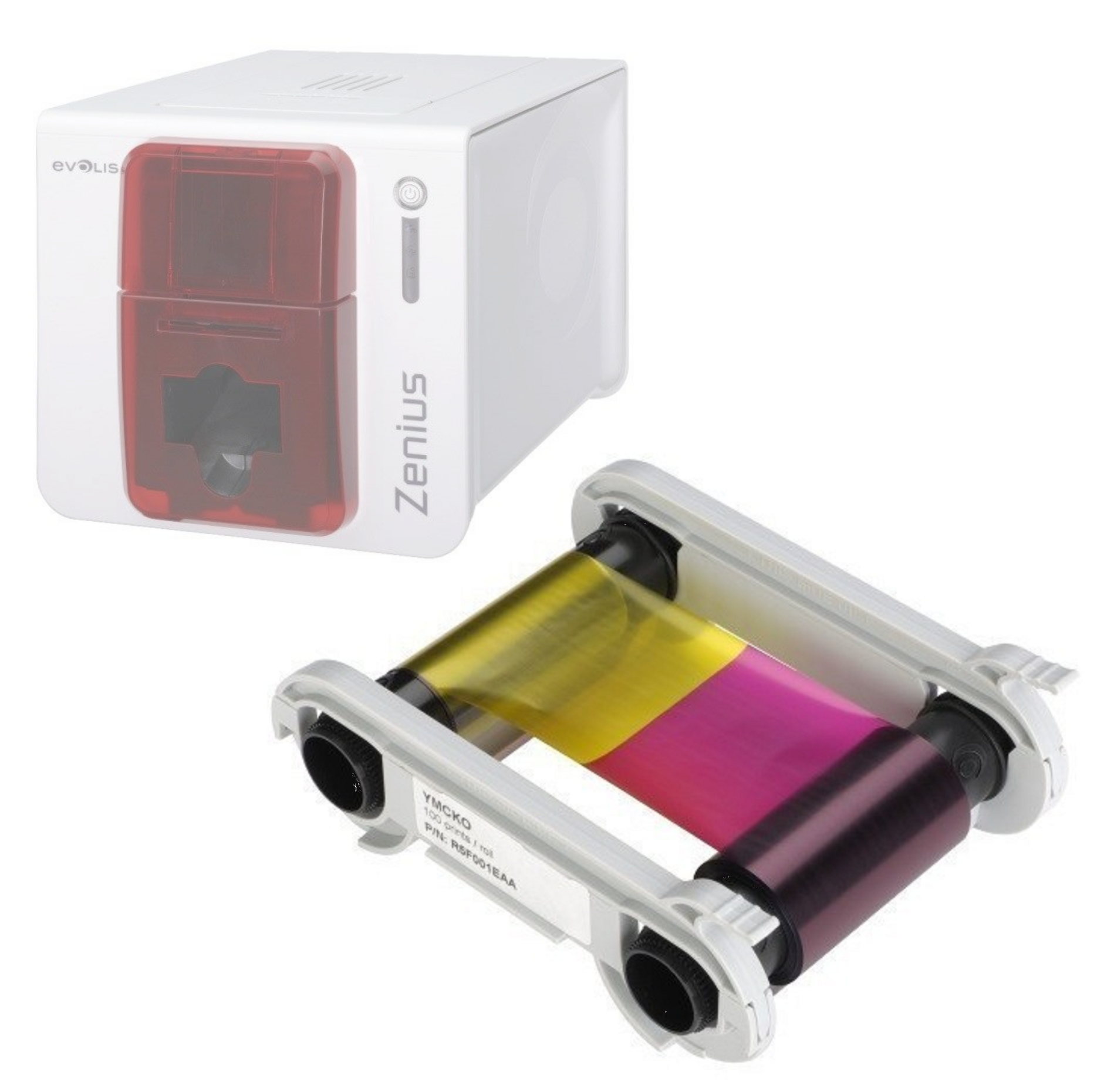 Rubans couleur et monochrome pour imprimante Evolis Zenius