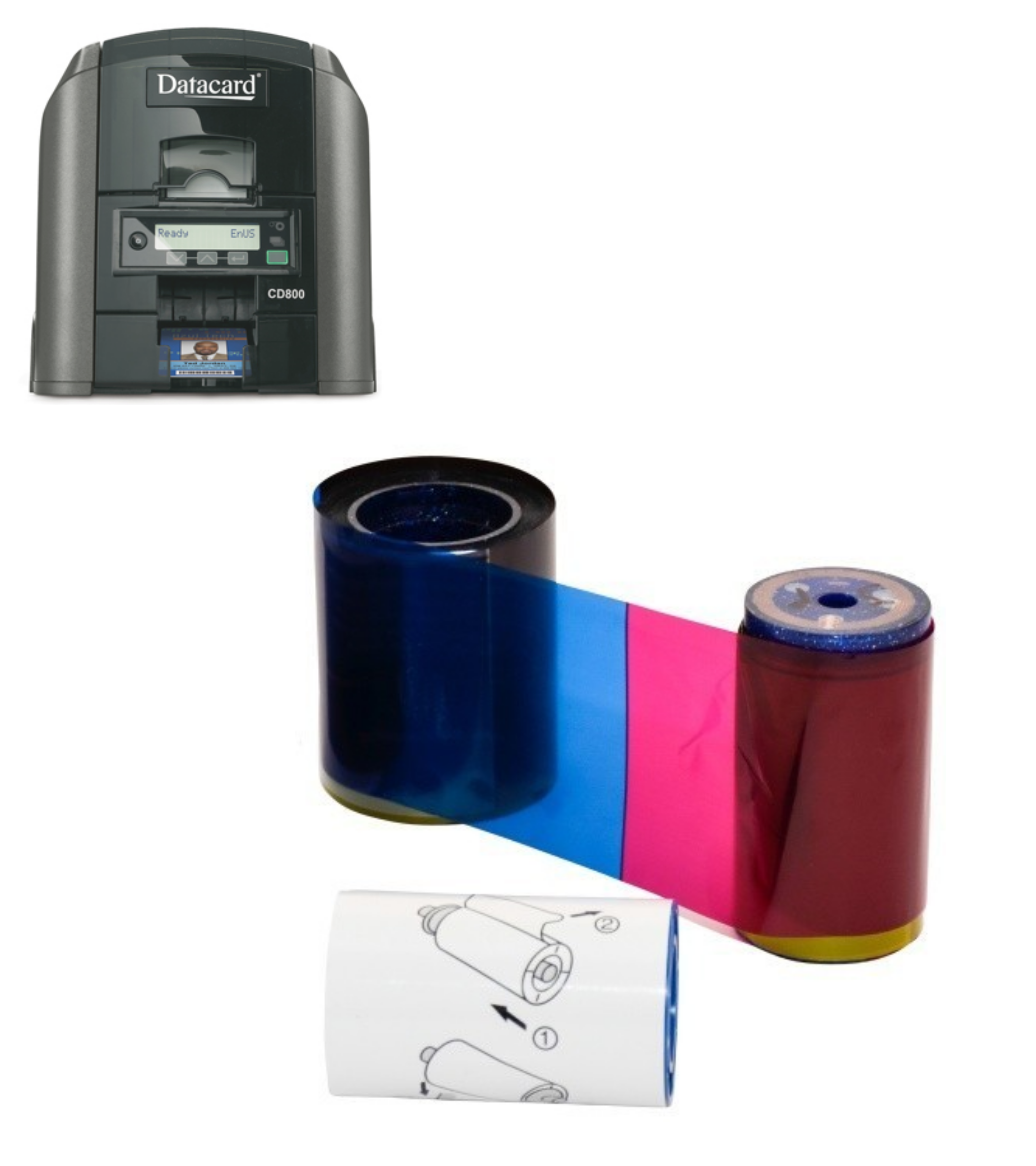 Datacard CP80, CP80 Plus et CD800 - Rubans d'impression Cardalis